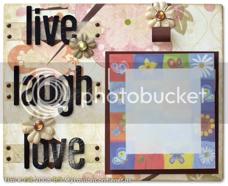 Live Laugh Love post-it holder
