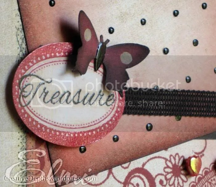 Handmade card close up