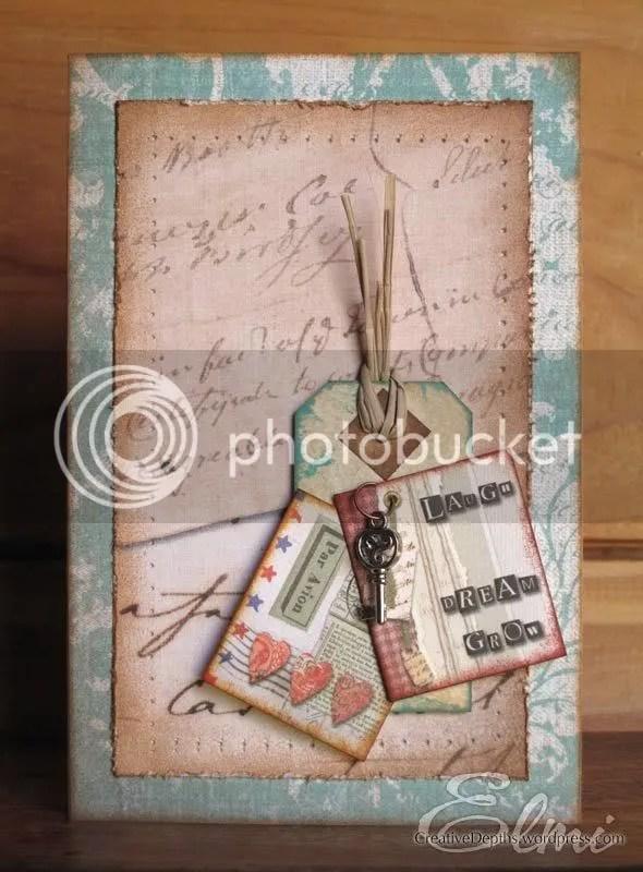 Vintage handmade card