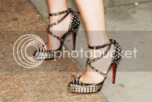Visionaire Magazine founder Cecilia Dean in Rodarte heels