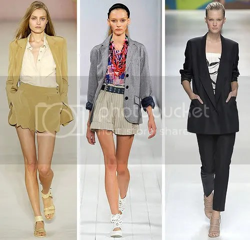 Looks from Chloé, Marc by Marc Jacobs and Stella McCartney SS09