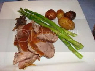 Homecooked Christmas Eve lamb