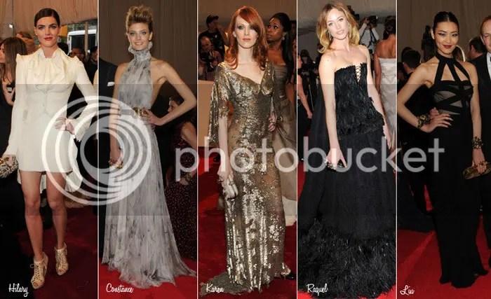 McQueen Met Gala models