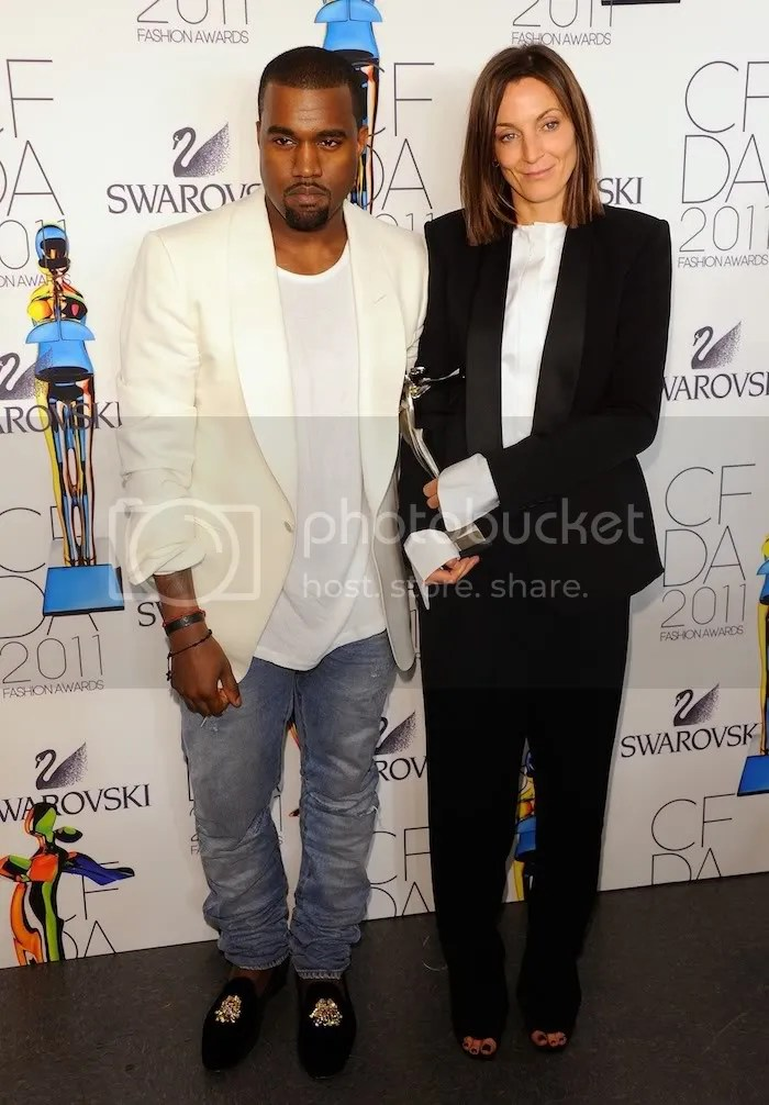 Kanye West and Phoebe Philo