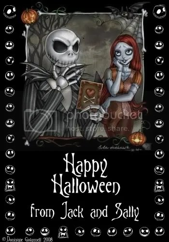 Jack and sally happy halloween Pictures, Images and Photos