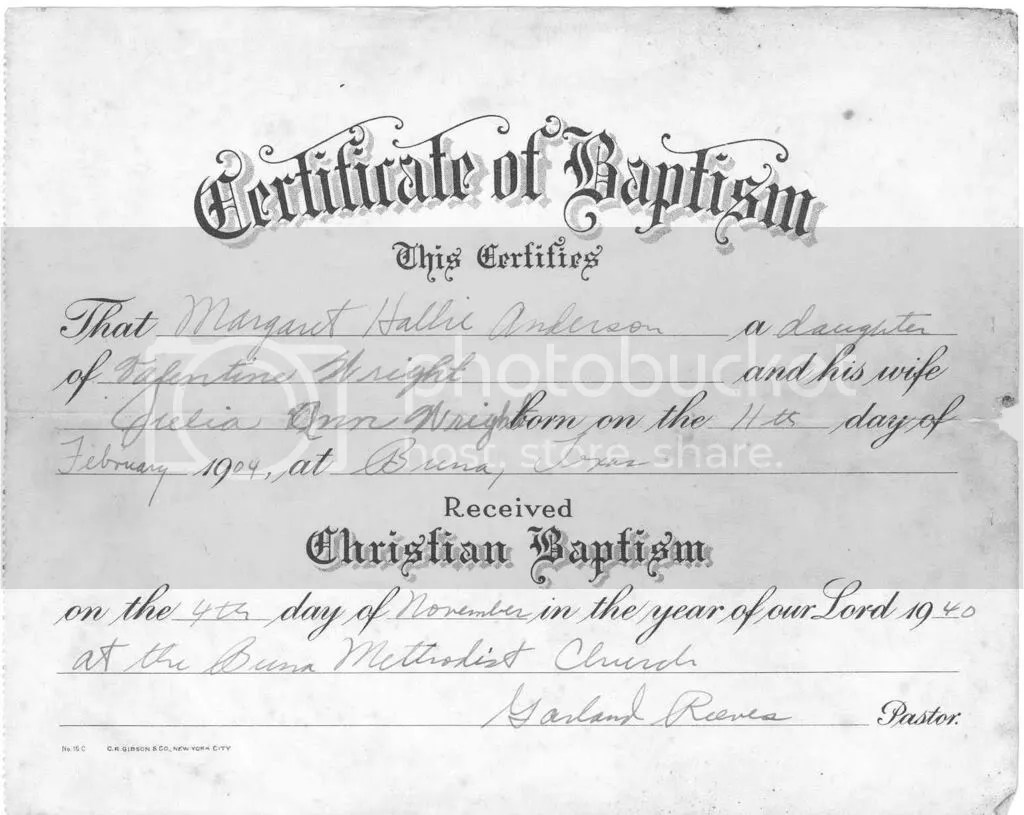 Water Baptism Certificate Template