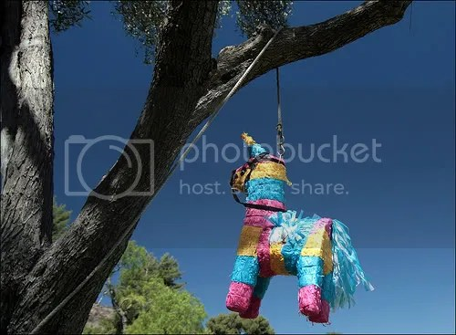 fight-freeze-flight hanging pinata