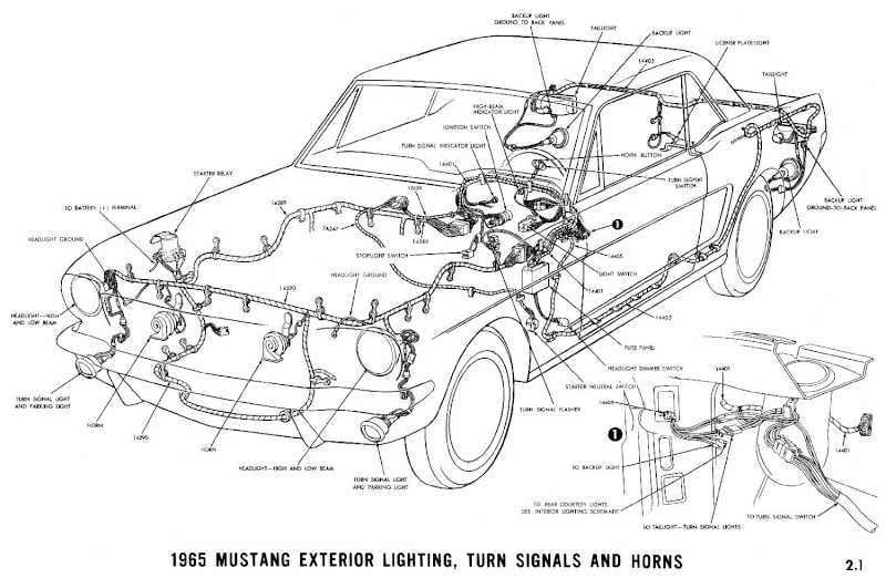 1965 MUSTANG GT FOG LIGHT WIRING DIAGRAMS - Auto Electrical ... on