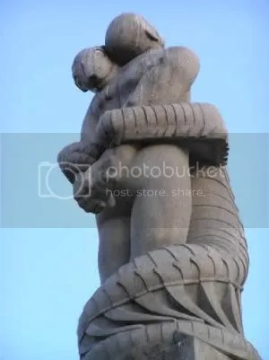 Vigeland Park, Oslo. Look at its creepy face.