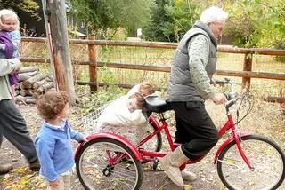Grandpa Bob on Tricycle