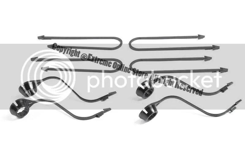 For 14-16 Toyota Highlander XLE Black Roof Rack Cross Bar