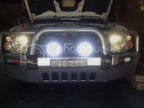 small resolution of wiring spotlight to high beam hilux