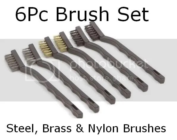 6PC ARCHAEOLOGY ARTIFACT & COIN CLEANING BRUSHES TOOL