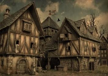 medieval town fantasy building tabletop village river towns dark docks rpg noble houses drawing cities google tudor taverns inns environments