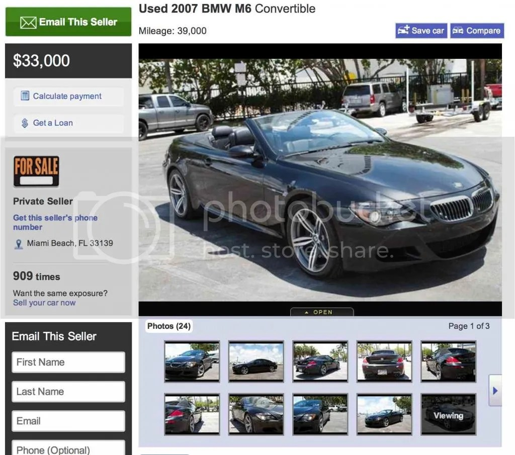 Used BMW M6 Convertible