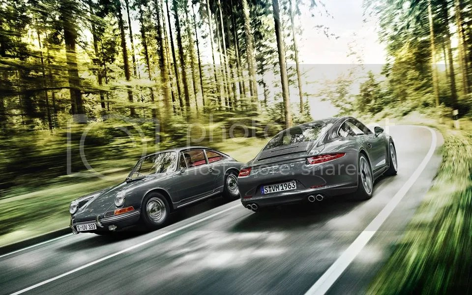 Porsche 911, old and new