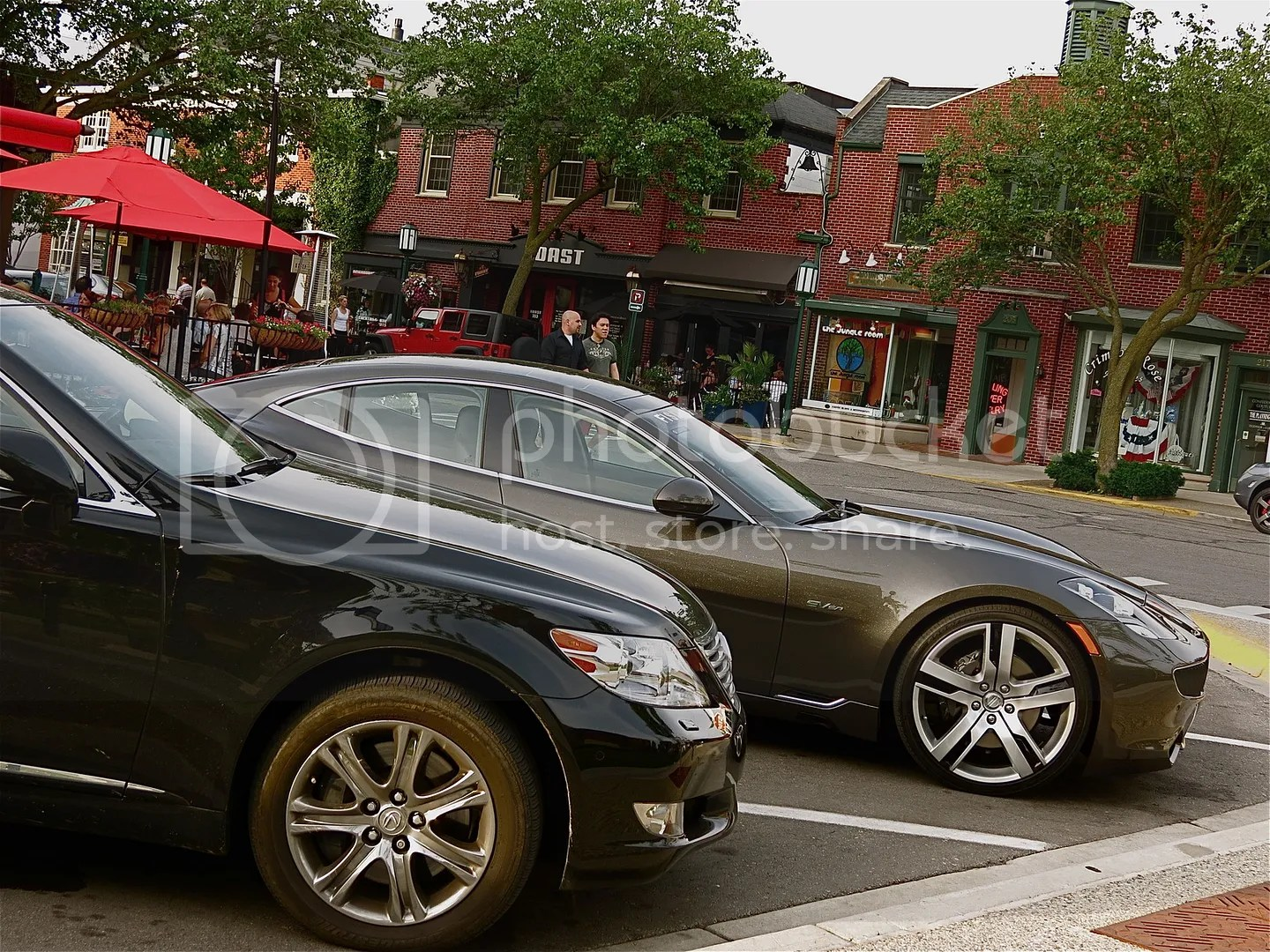 Fisker Karma compared to a Lexus LS