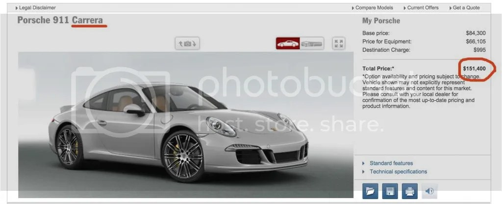 Porsche 911 Carrera with options