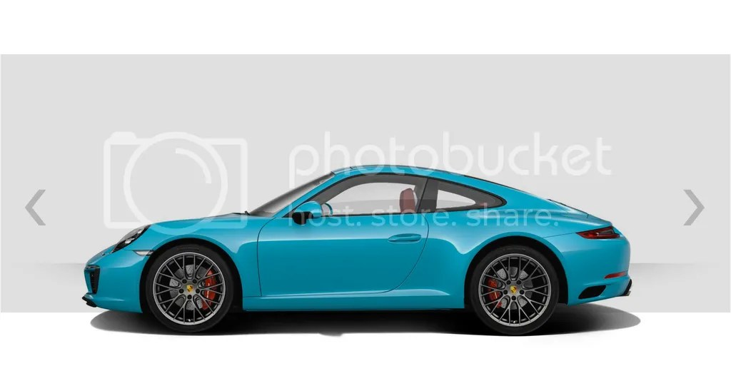 2016 Porsche 911 Carrera S Miami Blue Side