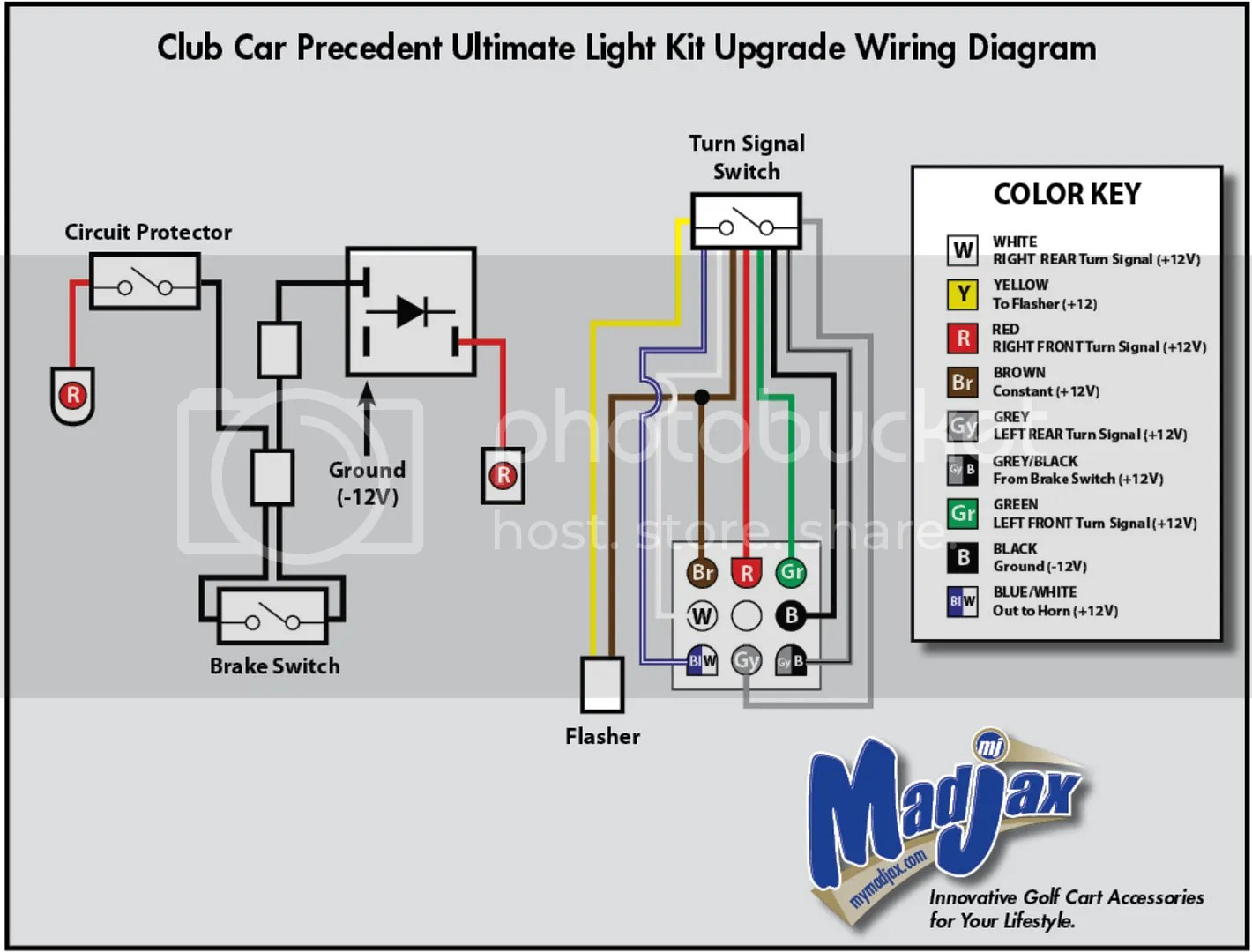 universal relay wiring diagram 95 ford ranger turn signal kit schematic yamaha golf cart brakelights club car brake lights