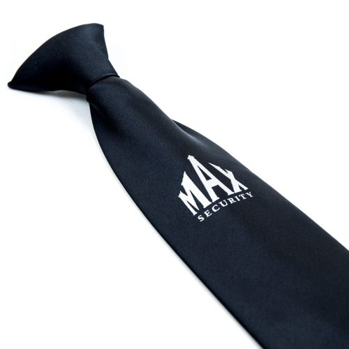 Black tie with white Security logo