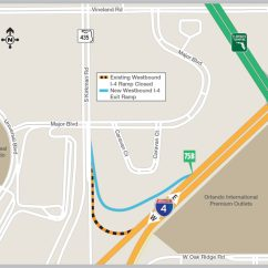 Exit Ramp Traffic Diagram Mini Cooper Engine Bay New Westbound I 4 To Open Northbound Kirkman