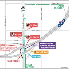 Exit Ramp Traffic Diagram Garmin Mini Usb Wiring Shifts At Orange Blossom Trail To Alter Wb I 4