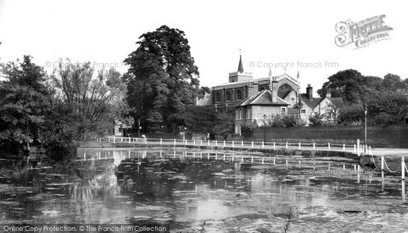 All Saints Church and Pond, Carshalton c1955