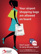 Shopping bags allowed on board