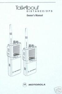 Motorola-TALKABOUT-DISTANCE-DPS-USER-GUIDE-Inst-Manual