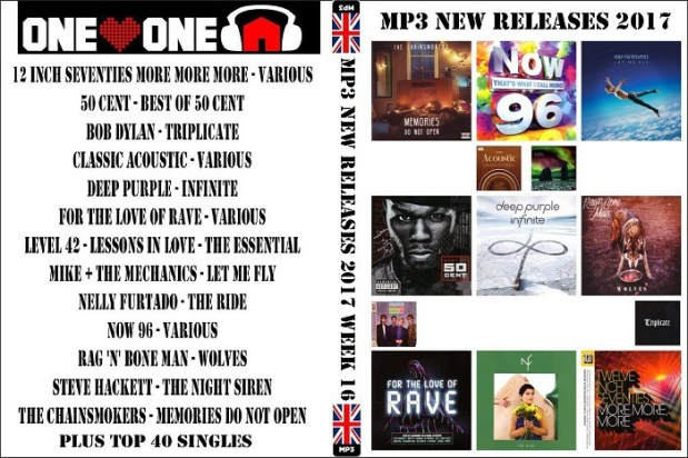 MP3 NEW RELEASES 2017 WEEK 16