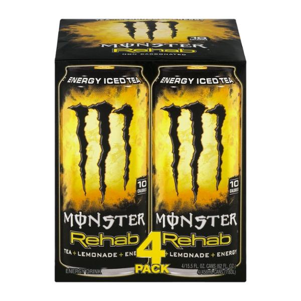 Save on Monster Rehab Tea + Lemonade + Energy Drink - 4 pk ...