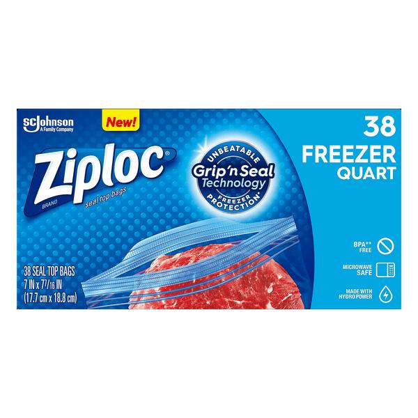 ziploc freezer bags double zipper quart