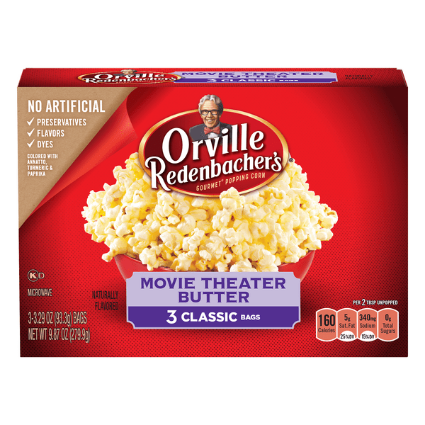 orville redenbacher s microwave popcorn classic bag movie theater butter