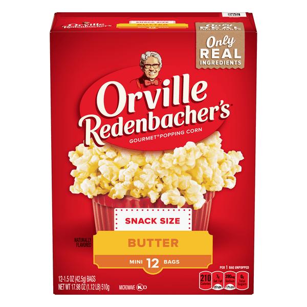 orville redenbacher s gourmet popping corn butter single serve mini bags