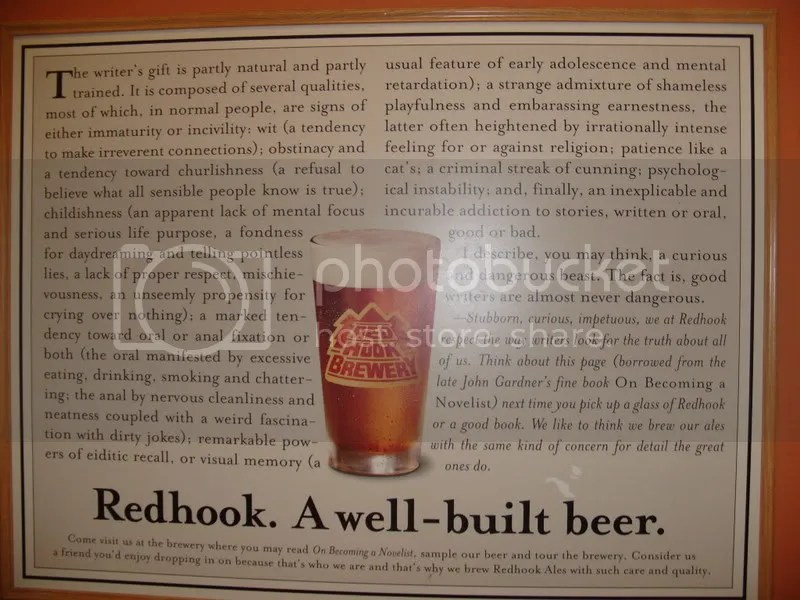 redhook brewery essay 1) what do you think of boston beer's business model relative to the traditional  beer companies' business model relative to redhook and.