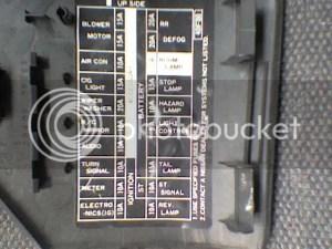 S13 Kick Panel Fuse Diagram  Nissan 240SX Forums