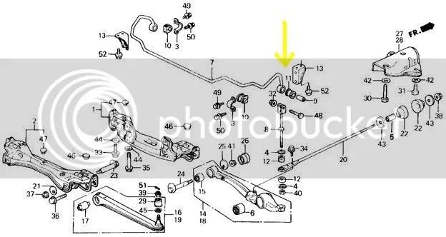 SPF0904-4K Rear Sway Bar Link Lower Bushing: no hardware