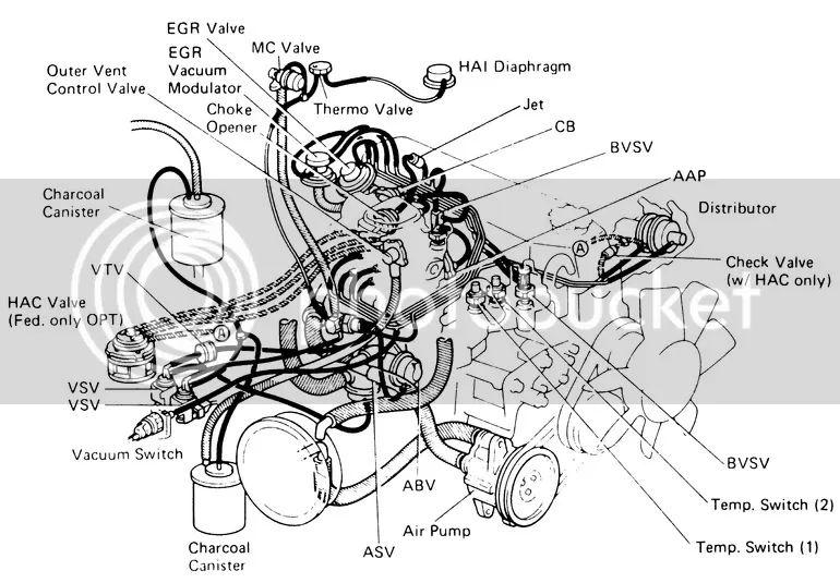 22re intake diagram