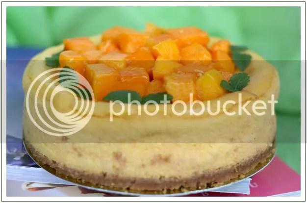 芒果烤芝士蛋糕