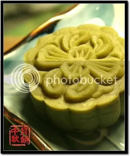 抹茶红豆冰皮月饼