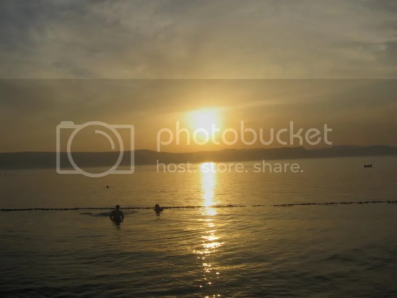 Kinneret at sunset