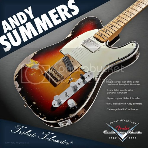 small resolution of definitely andy summers tele that thing looks great and sounds andy summers telecaster
