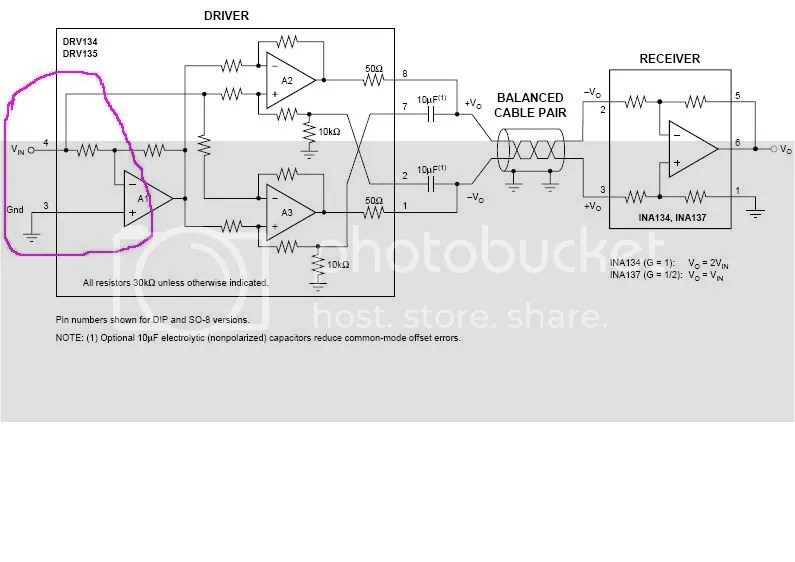 Bal output circuit not worky (pic)