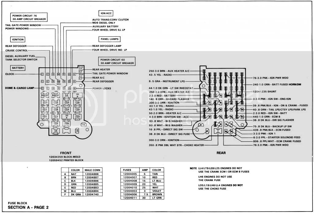 Wiring Diagram needed for 89 K-5 detailed fuse block schematic