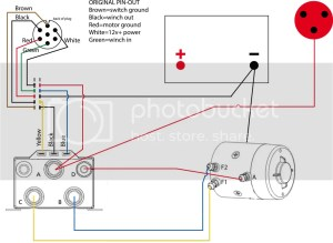 Custom winch wiring