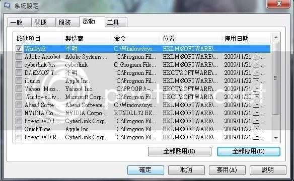 •°o.O If O.o°• murmur: 加速你的 Windows 7 開機.啟動