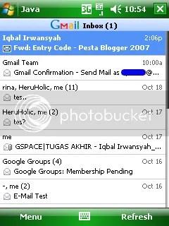 Tampilan Gmail dengan Java