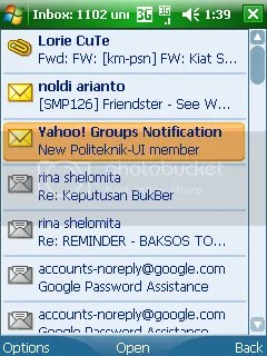 Inbox email Yahoo!Go
