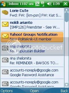 Inbox email Yahoo!Go